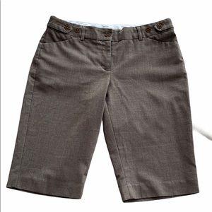 Express Brown Editor Dress Bermuda Shorts 4